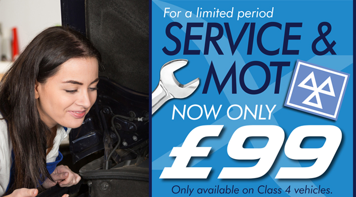 Service and MOT from £99